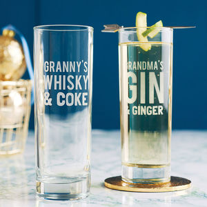 Personalised Mixers Hi Ball Glass - gifts for him