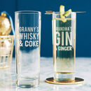 Personalised Mixers Hi Ball Glass