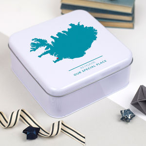 Personalised Map Anniversary Tin - new in wedding styling