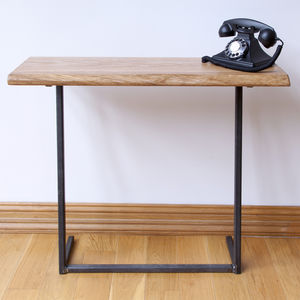 Z Kollektion Oak And Iron Console Table - side tables