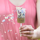 10 Biodegradable Petal Confetti Kraft Pops