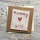 Personalised Mummy And Child's Name Birthday Card