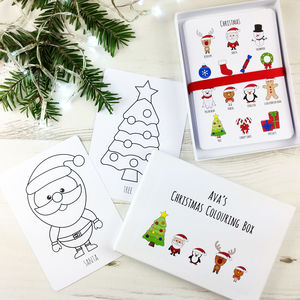 Christmas Colouring Box - christmas eve box ideas