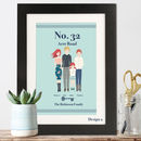 Personalised Illustrated Family Portrait Print