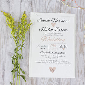 Heart + Arrow Wedding Invitation - invitations