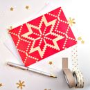 Snowflake Christmas Card Pack Of Ten