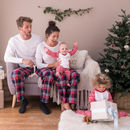 Personalised Embroidered Christmas Family Pyjama Set
