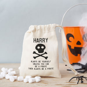Pirate Gift Bag With Sweets - halloween