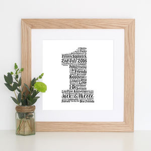 Personalised 'Paper' 1st Anniversary Gift Print