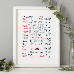 Personalised Kitchen Gift Print