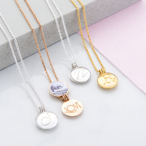 Mini Initial Locket Pendant - gifts for wife or girlfriend