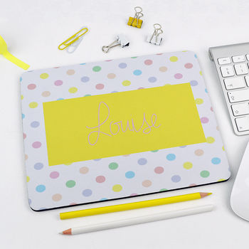 Personalised Spotty Mouse Mat