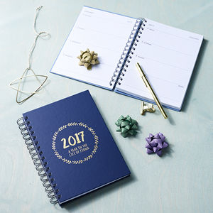 Personalised The Year 2017 Weekly Diary - gifts for her