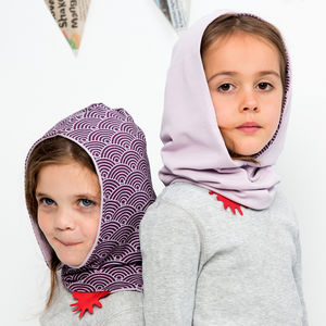 Reversible Organic Hoodie Snood New Collection - children's scarves