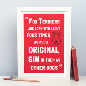 Fox Terrier 'Original Sin' Print