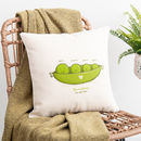 Personalised Peas In A Pod Cushion