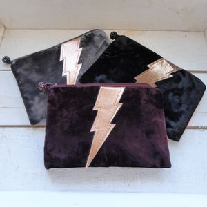 Velvet Lightning Bolt Coin Purse - christmas partywear & accessories