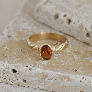 Golden Citrine Ring - rings