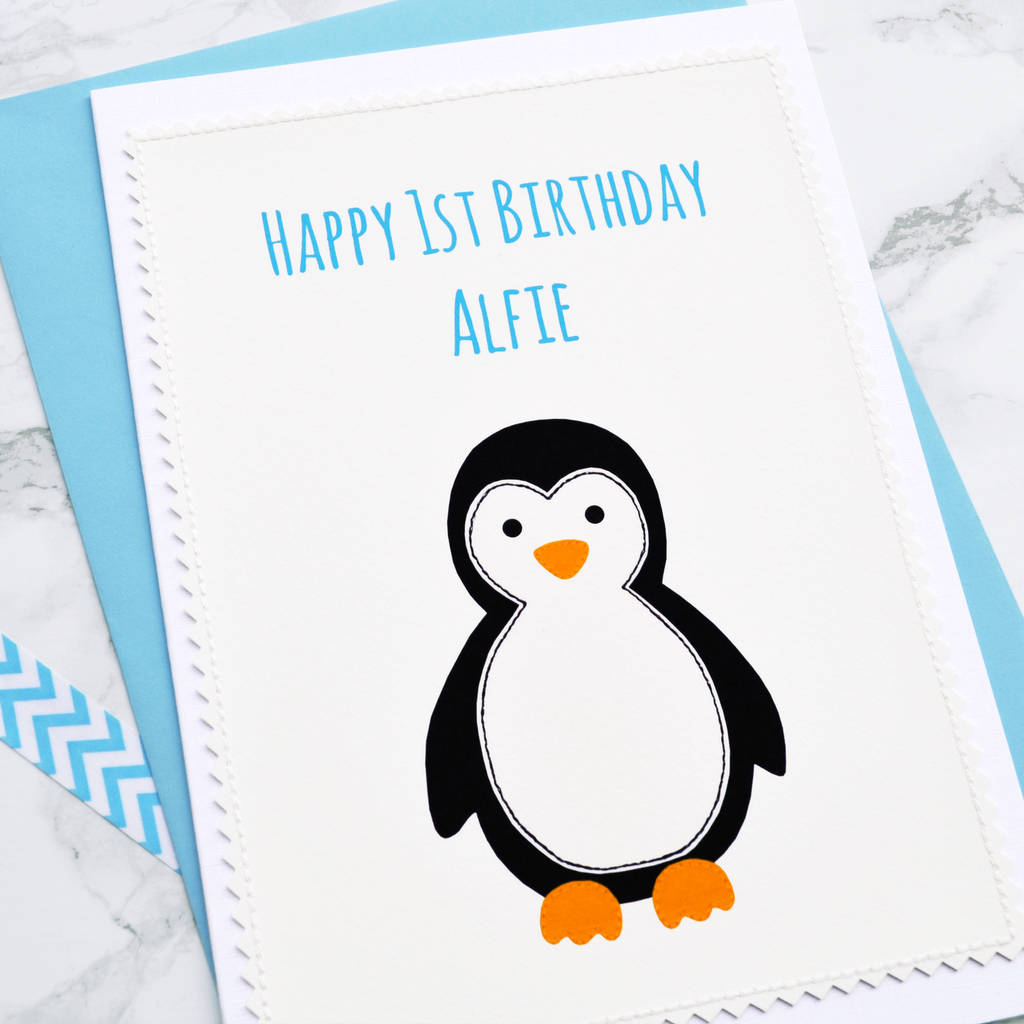 Personalised Boys First Birthday Card