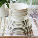 Hand Thrown Porcelain Dinner Service