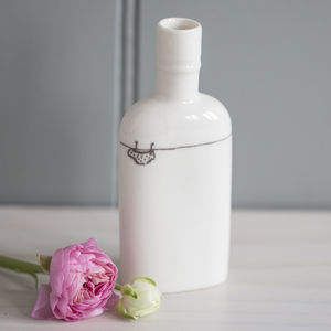 Personalised Dolly's Knickers Porcelain Bottle Vase