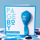 Page Boy Balloon Card Bold