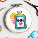 Gin Time Mini Cross Stitch Kit