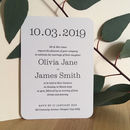 Big Date Save The Date Card