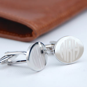 Contemporary Monogram Cufflinks - men's accessories