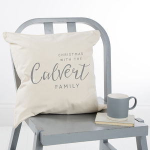 Family Christmas Cushion Cover