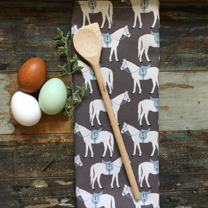 Fergie Horse Design Cotton Tea Towel - kitchen accessories