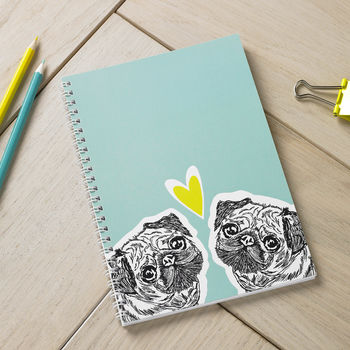 Pug Love Spiral Bound Notebook