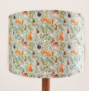 Woodland Animal Lampshade - children's lighting
