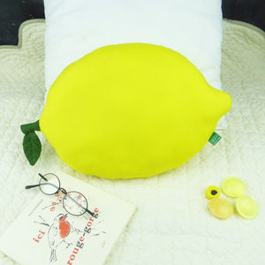 Lemon Cushion Fruit Shaped Pillow - children's room