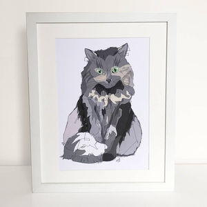 Personalised Cat Full Portrait - pet portraits