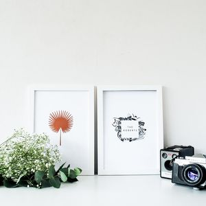 Personalised Botanical Print Set