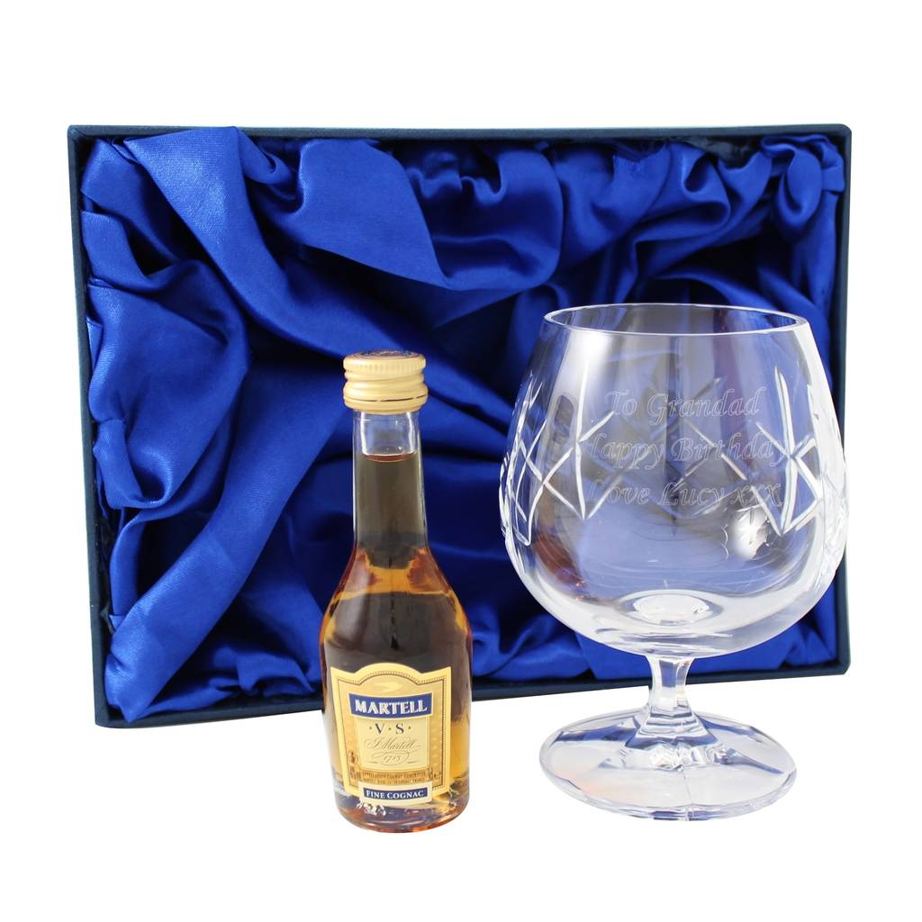 Engraved Brandy Glass Gift Set