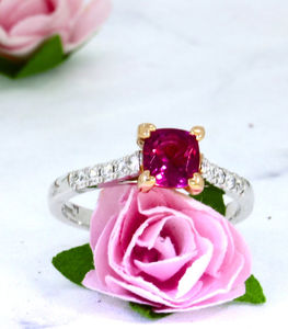 Nymph Rubellite And Diamond Ring
