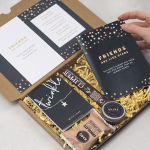 Personalised Friends Are Like Stars Friendship Gift Box - tea & infusions