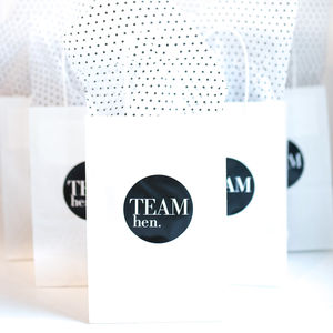 Hen Party Gift Bag | Monochrome