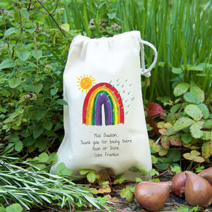 'Rainbow' Teacher Gift Bag With Seeds