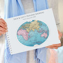 Personalised Antique Globe Travel Journal