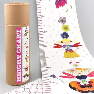 Fairy Height Chart With Stickers - baby's room