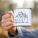 Personalised Adventure Enamel Mug