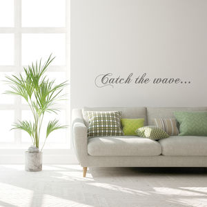 'Catch The Wave' Wall Sticker - wall stickers