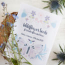 Butterfly And Bee Personalised Wildflower Seed Packet
