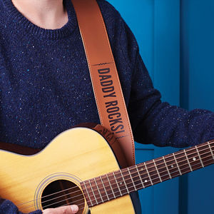 Personalised Leather Guitar Strap - music-lover