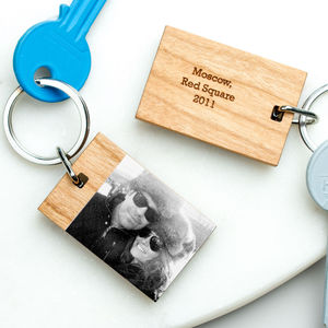 Personalised Valentines Photo Keyring - our memories