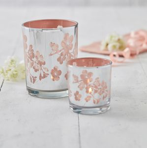 Pink Blossom Tea Light Holder