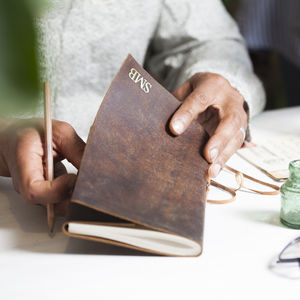 Personalised Leather Travel Journal - gifts for him